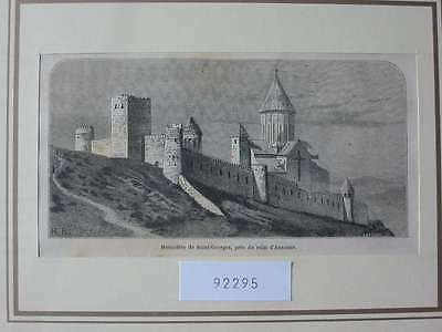 92295-Russland-Russia-Kaukasus-Caucasus-Saint Georges-T Holzstich-Wood engraving