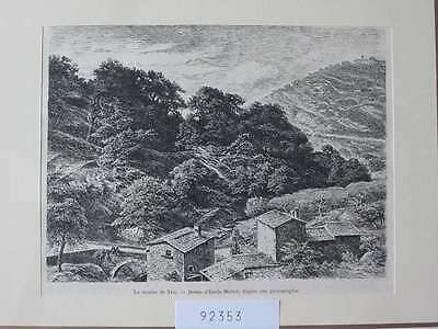 92353-Italien-Italy-Italia-Tosi-Mühle Mill Toscana-T Holzstich-Wood engraving
