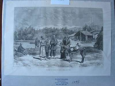 93503-Asien-Asia-China-Canton Kanton Esel Donkey-T Holzstich-Wood engraving