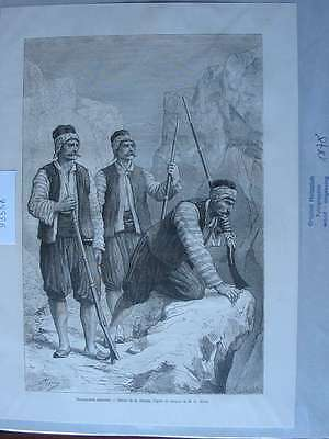 93556-Griechenland-Greece-Hellas-Maniotes-T Holzstich-Wood engraving