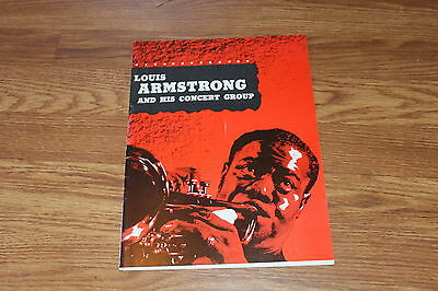 Louis Armstrong and his concert group tour program