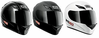 AGV Adult Motorcycle K3 Full Face Solid Helmet Size XS-2XL
