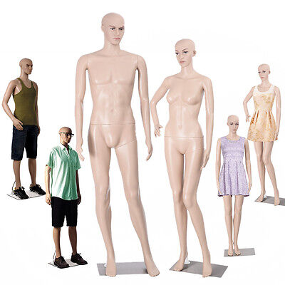 Full Body Dummy Mannequin Shop Window Display Retail Dressmaker Female Lady Male