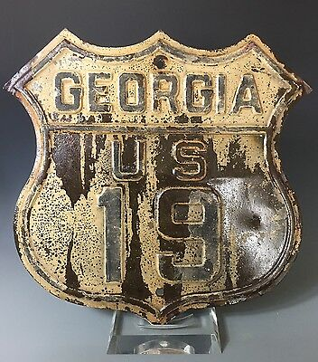 Georgia US Route 19 Road Highway Interstate Shield Sign