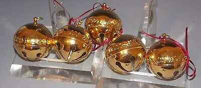 Wallace ~Gold Plated Sleigh Bell ~ 1997-2001 Annual Christmas Ornaments