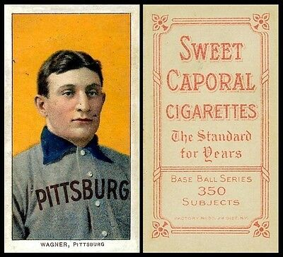 LOT of 25 REPRINT 1909 T206 HONUS WAGNER Sweet Caporal Back AGED LOOK