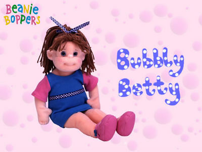 """TY Beanie Boppers BUBBLY BETTY 13"""" Plush DOLL Retired MWMT! Soft Toy Girl"""