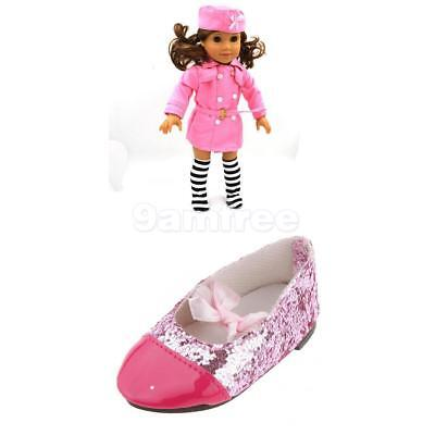 Handmade Fashion Pink Suit clothes dress Shoes for 18inch American girl doll