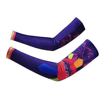 New Women Cycling Arm Warmers Bicycle Sport UV Sun Protection Cuff Sleeve Cover