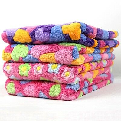 New Pet Blanket Colorful Dog Mat Coral Fleece Soft Puppy Bed Cat Warm Pad Cover