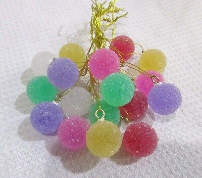 18pc MINI Sugar Coated candy Gumdrop Christmas Tree Ornaments Decorations