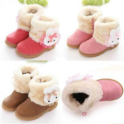 Cute Baby Child Kids Girl Fashion Winter Cotton Boot Warm Snow Boots Soft Shoes