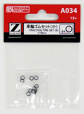 Rokuhan A034 Traction Tire Set (S) 10 pcs. (1/220 Z Scale)