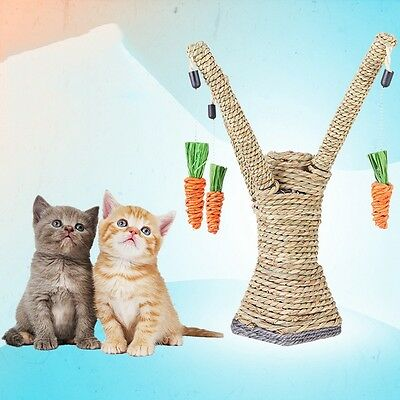 NEW Cat Teaser Toys Kitten Scratching Climbing Stand Tree Pet Interactive Toy