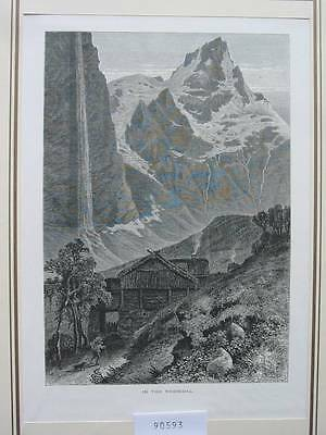90593-Norwegen-Norway-Norge-Nebbedal-T Holzstich-Wood engraving