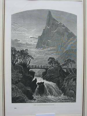 90594-Norwegen-Norway-Norge-Horningdalskrakken-T Holzstich-Wood engraving