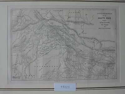 93023-Asien-Asia-Himalaja-Himalayas-Karte Map-T Holzstich-Wood engraving