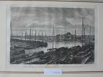 93044-Asien-Asia-China-Tien-Tsin-T Holzstich-Wood engraving
