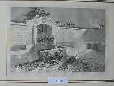 93047-Asien-Asia-China-Hai-Dzuong-T Holzstich-Wood engraving