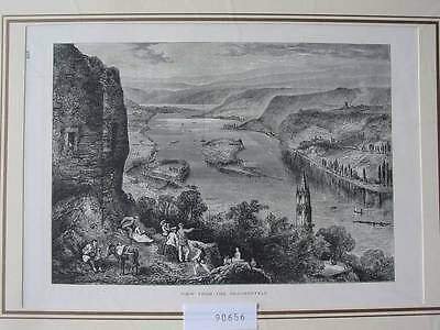 90656-NRW-View from the Drachenfels-T Holzstich-Wood engraving