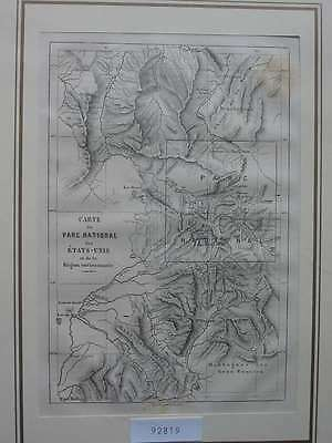 92819-Amerika-America-USA-United States-Yellowstone-T Holzstich-engraving