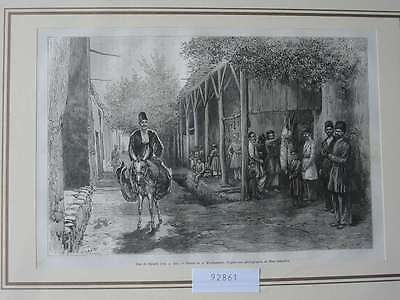 92861-Asien-Asia-Iran-Iran-Persien-Persia-Djoulfa Esel-T Holzstich-engraving