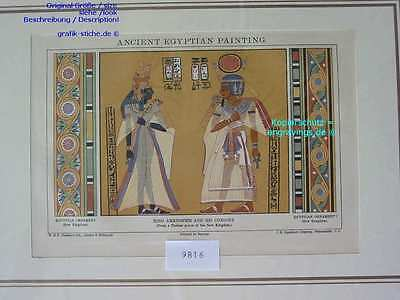 9816-Afrika-Africa-Ägypten-Egypt-Painting-Amenophis-Lithographie-Lithography