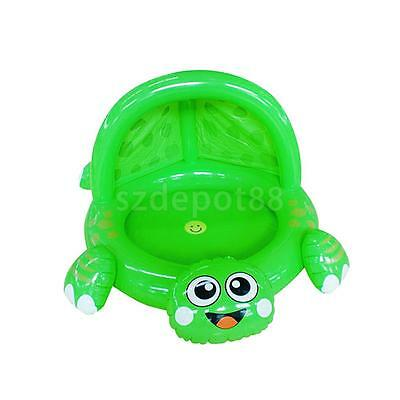 Baby Toddler Cartoon Frog Inflatable Swimming Paddling Pool Toy w/ Sunshade