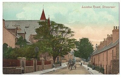 STRANRAER London Road, Old Postcard by Valentine, Unused