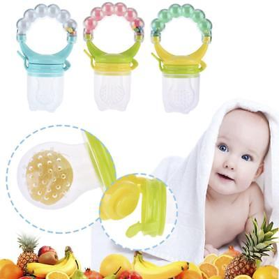 Baby Dummy Pacifier Fresh Food Fruit Feeder Nibbler Weaning Teething with Rattle