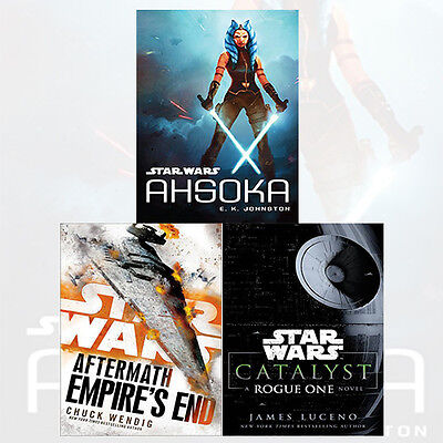 Star Wars 3 Books Collection (Ahsoka, Aftermath:Empire's End) Hardcover, NEW