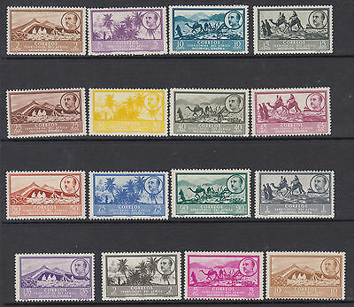 SPANISH WEST AFRICA : 1950 definitives 2c-10p SG 3-18 mint