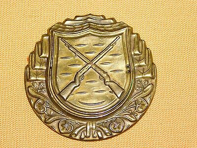 Vintage Ww2 Wwii Brass Crossed  Rifles Badge Pin