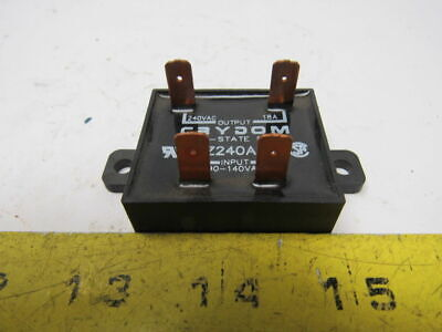 Crydom EZ240A18 Solid State Relay 18A 240VAC Output 90-140VAC Output
