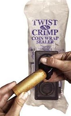 Twist-n-Crimp 2 PC Coin Wrapper Crimper Set  NEW Seals Penny Nickel Dime Quarter