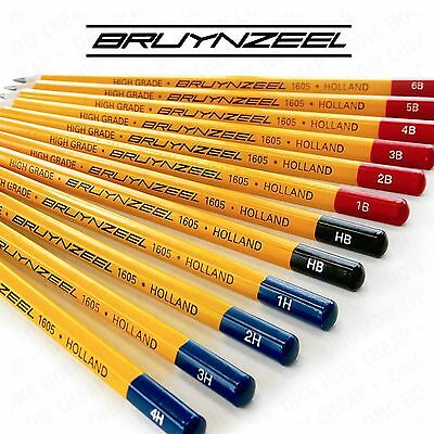 Bruynzeel - High Grade Hexagonal Burotek Pencils  - Box of 12 - 4H to 6B