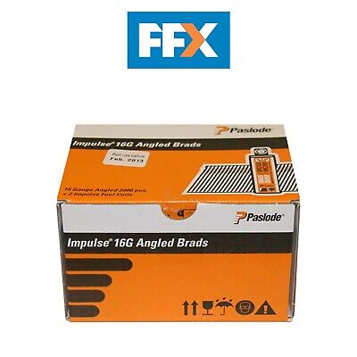 Paslode 300276 16g x 32mm S/Steel Angled Brad 2000 per box + 2 fuel cells