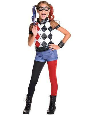 Deluxe Harley Quinn Kids Girls Sucide Squad Joker Fancy Dress Costume 5-10yrs