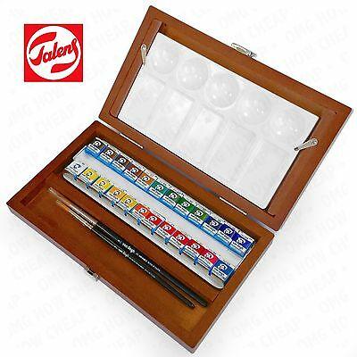 Royal Talens - Van Gogh Watercolour - Wooden Box of 24 Paints & Brush