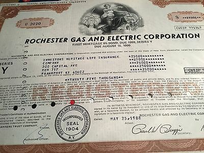 Amerikanischer Bond, Rochester Gas and Electric Corporation1988