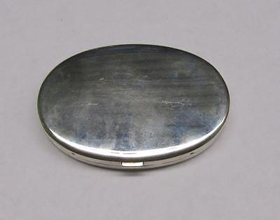 Vintage Sterling Silver Oval Compact w/ Mirror ~ 84.6 grams ~ 12-G6931