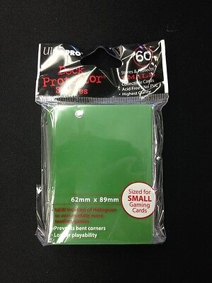 Ultra Pro Deck Protector Sleeves 60 Ct. - Green - Sized for Yugioh & Vanguard