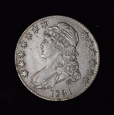 1831 50C Capped Bust Silver Half Dollar Us Coin