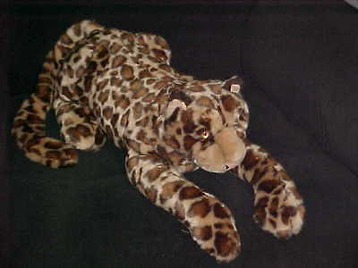 "36"" Leopard Puppet Plush Stuffed Toy By Folktails Folkmanis Retired & Rare"