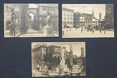 Lot (3) Firenze, Italy, Street Scenes, Monuments, Lithos