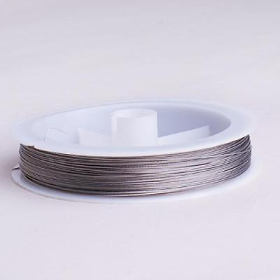 90M Roll Tiger Tail Beading Wire Jewelry Making Findings 0.35mm / Silver