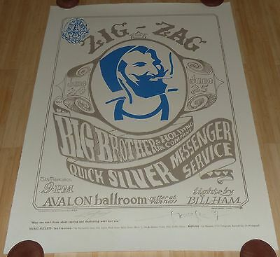The Family Dog Zig Zag Man Signed Le Lithograph Stanley Mouse Alton Kelly Fd-14