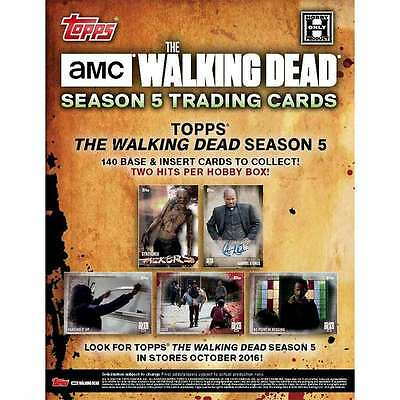 Topps The Walking Dead Season 5 Trading Cards Hobby Box New/Sealed