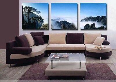 3pc MODERN ABSTRACT HUGE WALL ART OIL PAINTING ON CANVAS(no framed)
