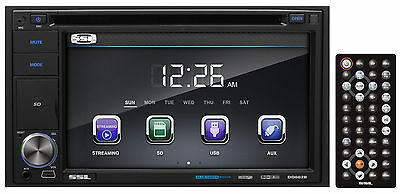 "SOUNDSTORM SSL DD662B 6.2"" 2-Din DVD/CD Player Receiver w/Bluetooth/USB/SD/MP3"